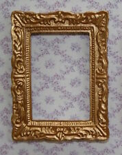 One Ornate Golden Picture Frame Dolls House Miniature, Wall Accessory 1.12 Scale