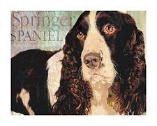 ENGLISH SPRINGER SPANIEL Dog Print Poster Vintage Look- signed Wendy Presseisen