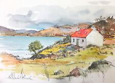 Signed Original  Watercolour 'Bothy at Loch Shieldaig'  by Annabel Burton