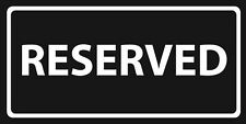 "Reserved Towel Black & White Beach Pool Souvenir 30""x60"""