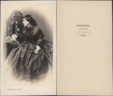Bertrand, Alger, portrait de femme Vintage CDV albumen carte de visite C