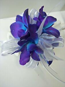 Silk wedding flower Blue purple latex galaxy orchid Singapore latex orchids fake
