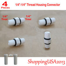 """4X 1/4"""" Thread Male Fitting Connector Standard Housing Water Filter with Ring"""