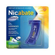 Nicabate Minis 4MG Lozenges 20 Stop Smoking Aids