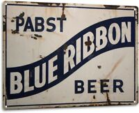 "PBR Pabst Blue Ribbon 4.5/"" Wood Beer Tap Handle UNUSED NOS Shell Patterns Inc"