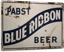 Pabst Beer Retro Logo PBR Weathered Wall Decor Bar Man Cave Metal Tin Sign New