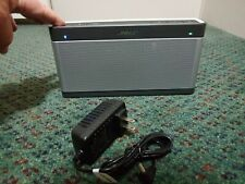 Bose Soundlink III Speaker - Bluetooth Silver ( With New Charger CLEAN )