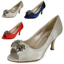 Kitten Satin Peep Toe Shoes for Women