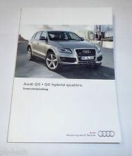 Betriebsanleitung / Instruktionsbog Audi Q5 / Q5 Hybrid Quattro, Stand 11/2011