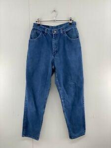 Gitano Womens Blue Vintage Flat Front High Waist Denim Straight Jeans Size 26