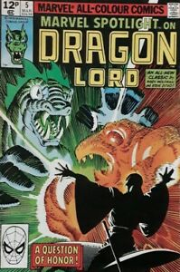 Marvel Spotlight On Dragon Lord No 5 Comic.1979 Marvel Comics Group.