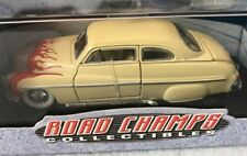 Road Champs Limited Edition 1:43 1949 Mercury Hotrod ~ Tan w Flames  1999 SEALED