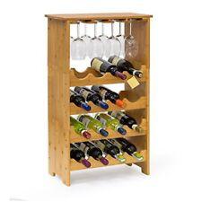 Relaxdays Casier À bouteilles de vin Étagère en Bambou H x L P 84 50 24 Cm...
