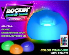 LIGHT UP INFLATABLE CHAIR W/REMOTE-GREAT GIFT, KIDS,TEENS - FREE SHIPPING