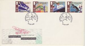 GB Stamps First Day Cover Transport & Communications scarcer NPM Postmark 1988