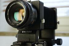 Minolta MC Rokkor PF 50mm mit Unitor Balgen Balgengerät Bellows für Makro