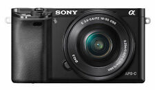 Sony ILCE6000LB Alpha A6000 Mirrorless Camera with 16-50mm Lens - Black