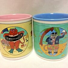 Coffee Mug Cats on Beach Vacation Carlson Sailor Cat Set of 2 Mugs Catamaran