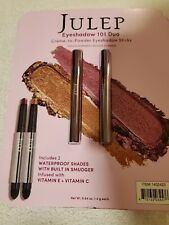 Julep Creme to Powder Eyeshadow 101 Stick Duo 2 Pack - Orchid Shimmer/Bronze