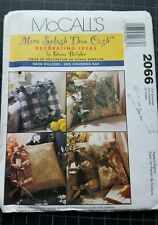 McCall's Decorating Ideas Pattern #2066 Sack Pillows By Donna Babylon Uncut
