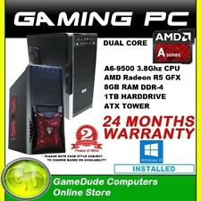 AMD Dual Core A6 9500 3.8GHz Gaming PC Computer 8GB ram 1Tb HDD R5 GFX Windows10