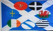 CELTIC NATIONS flag 5X3 feet Cornwall Isle of Man Galicia Brittany UK SCOTLAND