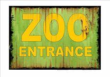 VINTAGE Zoológico Letrero Estilo Retro METAL COCINA PLACA DE PARED ANIMAL