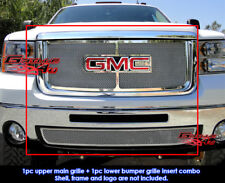Fits GMC Sierra 2500HD/3500HD Stainless Steel Mesh Grill Insert Combo 07-10