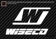 "(2x) Wiseco Decal Sticker Die Cut (8"" wide)"