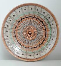 handmade Horezu ceramic plate traditional handpainted glazed art pottery Romania
