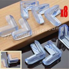 8x Soft Baby Safe Cushion Protector Table Desk Corner Protective Guard  Clear