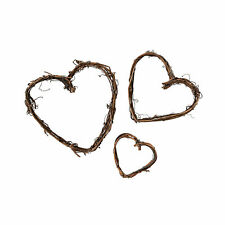 Mini Grapevine Hearts - Craft Supplies - 15 Pieces