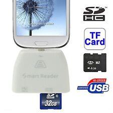 5 en 1 Lecteur de carte connection kit pour tous MICRO USB mobile tablette avec