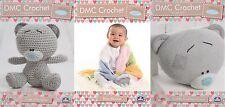 Set di 3 DMC Tiny Tatty Teddy Crochet Modelli, simpatico personaggio, COPERTA, Cuscino