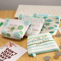 Women Coin Purse Mini Wallet Money Bag Pouch Key Card Small Canvas Zip New