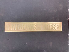 New Listingnew Fairbanks Morse Brass Cart Tag Antique Hit And Miss Gasoline Engine