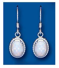 Opal Earrings Sterling Silver Drop Solid Drops