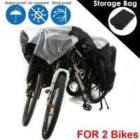 Wasserdicht Fahrrad Abdeckung für 2 Fahrräder Abdeckplane Fahrradabdeckung Cover