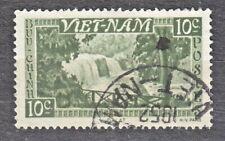 WIETNAM VIETNAM Fr. 1951 used SC#01 10c stamp, Bongour Falls, Dalat.