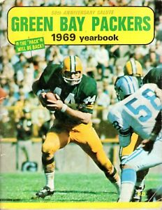 1969 YEARBOOK Football GREEN BAY PACKERS 50th Anniversary Salute