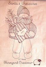 "Farmyard Creations - Santa'S Treasures - Vintage 11"" Santa Doll Pattern"