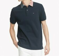NWT Men's Tommy Hilfiger Short-Sleeve Custom Fit Star and Stripe Polo Shirt