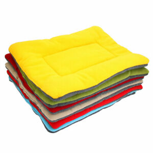 Washable Soft Comfortable Silk Wadding Bed Pad Mat Cushion For Pet Green XL BR