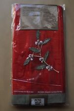 New Lot of 4 Park Manor Napkins Embroidery Holly Red NWT
