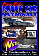 Drag Racing TEXAS FUNNY CAR NATIONALS 1986, A Main Event Entertainment DVD