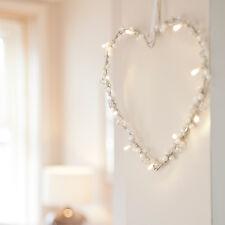 Battery Operated Heart Warm White LED Fairy Light Wreath Wedding Decoration