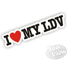 I Heart Love mi LDV Convoy Minibus piloto camión coche van Sticker Decal