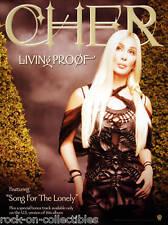 Cher 2002 Living Proof Promo Poster Original