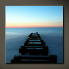 BACK TO BLACK Leinwand Bild Bilder Schwarz Blau Deko XL