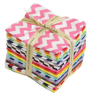 Chevron Small Fabric Fat Quarter Bundle for Riley Blake, 24 pieces, 100% cotton